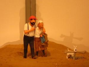 Haddock, Tintin et Milou